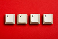 Jobs White Keyboard Keys Royalty Free Stock Image