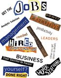 Jobs Word Collage Stock Photography