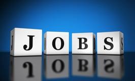 Jobs Word 3D Cubes Stock Image