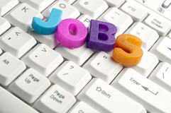 Jobs word made by colorful letters Stock Photos