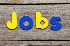 Jobs word Stock Photo
