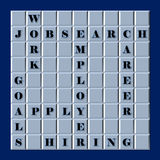 Jobsearch Word Puzzle Stock Images