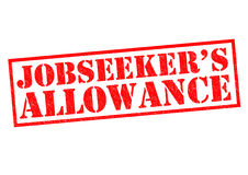 JOBSEEKER`S ALLOWANCE. Red Rubber Stamp over a white background Royalty Free Stock Photo