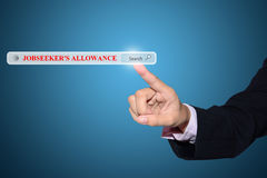Jobseeker's allowance search Royalty Free Stock Photo