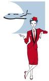 Jobserie - Stewardess Stockfotos