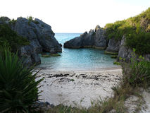 Jobsons Cove Bermuda. This is a picture of Jobson's cove on the south shore of Bermuda Stock Photography