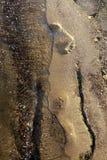 Jobstepp auf Sand Lizenzfreie Stockfotografie