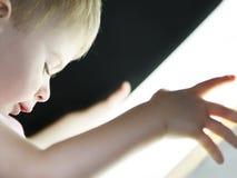 Jobstepp innen zur Leuchte Stockfotografie
