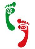 Jobstepp und Fuß mit Zeichen Lizenzfreies Stockfoto