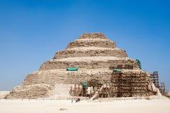 Jobstepppyramide von Djoser Stockbilder