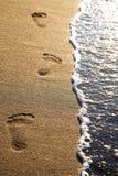 Jobstepps auf einem Strand lizenzfreie stockfotos