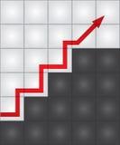 Jobstepps des Erfolgs Auch im corel abgehobenen Betrag Lizenzfreies Stockbild