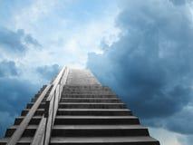 Jobstepps gezeigt auf den Himmel Stockfotos