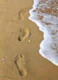 Jobstepps im Sand Stockfotografie