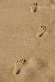 Jobstepps im Sand Lizenzfreie Stockfotos