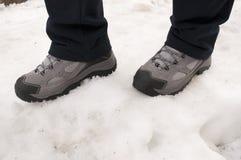 Jobstepps im Schnee Lizenzfreie Stockfotos