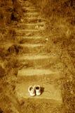 Jobstepps zum heiligen Platz und zum einsamen Krieger an der Oberseite Lizenzfreie Stockbilder
