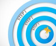 Jobstepps zum Ziel Lizenzfreies Stockfoto