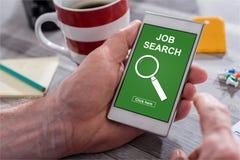 Jobsuchekonzept auf einem Smartphone Stockfoto