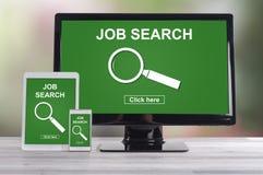 Jobsuchekonzept auf verschiedenen Geräten Lizenzfreies Stockbild
