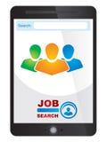 Jobsucher-Anwendungsschirm Stockfoto
