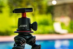 A Joby gorilla stand without camera mounted stock photography