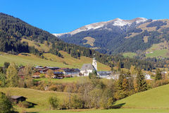 Jochberg in Tirol. Panorama of Jochberg close to Kitzbuehel Stock Photography