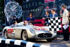 Jochen Mass at the start of 2012 1000 Miglia Royalty Free Stock Photos