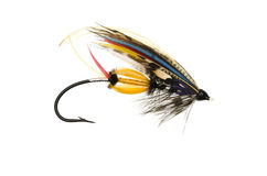 Jock Scott Salmon Fly stock afbeeldingen