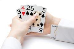 jocker poker sleeve straight Στοκ φωτογραφία με δικαίωμα ελεύθερης χρήσης