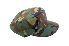Jockey Cap. Army Jockey Cap Stock Photo
