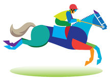 Jockey at competitions steeplechase. Young Jockey at competitions steeplechase Stock Photography