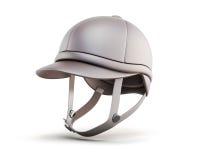 Jockey equestrian helmets  on white background. 3d rende Stock Photos