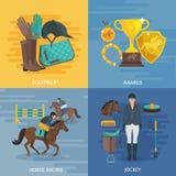 Jockey Flat Design Royalty Free Stock Images