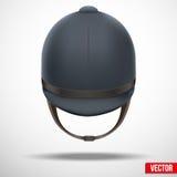Jockey helmet for horseriding athlete Stock Photos