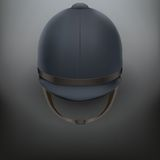 Jockey helmet for horseriding athlete Stock Image