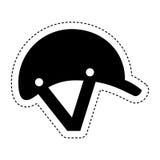 Jockey helmet isolated icon Stock Photo