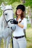 Jockey and horse Stock Photos