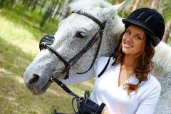 Jockey and horse Royalty Free Stock Images