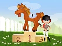 Jockey with horse Stock Image