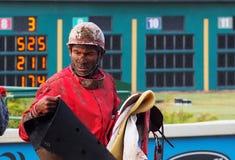 Jockey In Horse Race Photographie stock