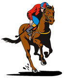 Jockey and horse racing Royalty Free Stock Image
