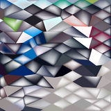 Jockey Horse Racing Abstract Low Polygon Background. Low polygon style illustration of a jockey horse racing abstract background Royalty Free Illustration