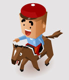 Jockey Horse Racing. Vector Illustration Royalty Free Stock Photography