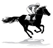 Jockey on a horse. Jockey riding a horse. Horse races. Competition Stock Photography