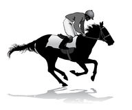 Jockey on a horse. Jockey riding a horse. Horse races. Competition Royalty Free Stock Images