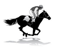 Jockey on horse. Jockey riding a horse. Horse races. Competition Royalty Free Stock Photo