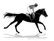 Jockey on horse. Jockey riding a horse. Horse races. Competition Royalty Free Stock Photos