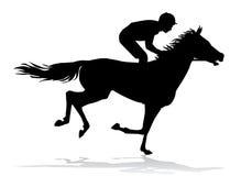 Jockey on horse Royalty Free Stock Photography