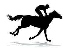 Jockey on a horse. Jockey riding a horse. Horse races. Competition Stock Images